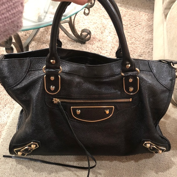 4f5e1773b83 Balenciaga Bags | Metallic Edge City Bag Black Gold | Poshmark